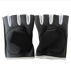 New OEM ODM half finger smart baseball cycling horse riding gloves with lycra print