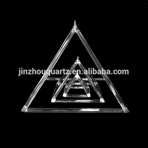 SUCCESS Quartz Clear Crystal Clear Pyramid with Strong Sound for Healing
