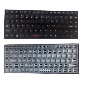 Custom silicone rubber keypad keyboard backlight waterproof