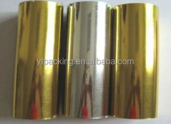 Gold MPET film 12mic for food packaging