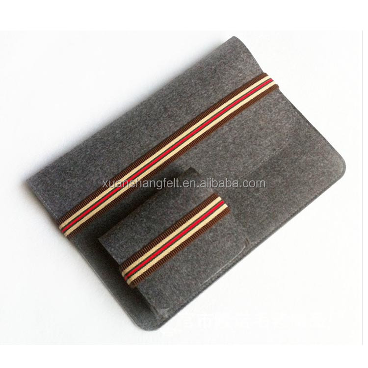 OEM felt non woven fabric envelope bags for laptop ipad macook