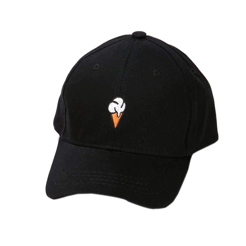 98c006de79c5a7 Get Quotations · Clearance Baseball Cap, HYUNN Ice Cream Embroidered Men  Women Baseball Cap Hat Peaked HipHop Hat