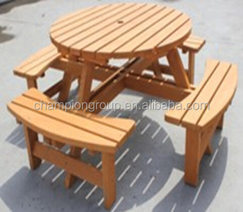 Wondrous Outdoor Wooden Round Picnic Table Buy Wooden Round Picnic Table Wood Picnic Table And Bench Bbq Table Set Product On Alibaba Com Pabps2019 Chair Design Images Pabps2019Com