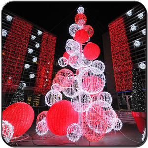 Christmas giant LED ball tree stands decoration