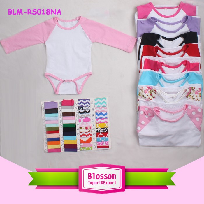 e92917e37 0-2 Years 100% Cotton Material blank infant rompers raglan multiple ...