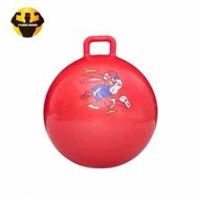 RAMBO Best Selling Round Handle Jump Hop Wholesale Eco-Friendly Girls Pvc Hopper Bouncing Jumping Ball
