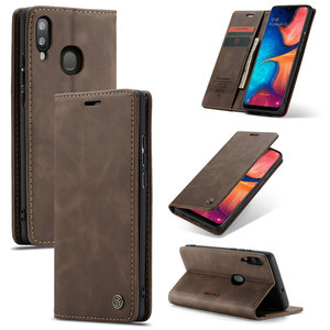 Free Shipping CaseMe Retro Flip Wallet Phone Case for Samsung Galaxy A30 A40 A50 A70 M10 M20 Card Slot with Stand Leather Cover