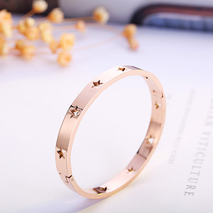 Fashion Rose Gold Women Stainless steel Bangle Wholesale NS8064223