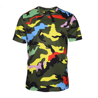 Military Camouflage t shirt Camo Crew neck Army t shirt for man