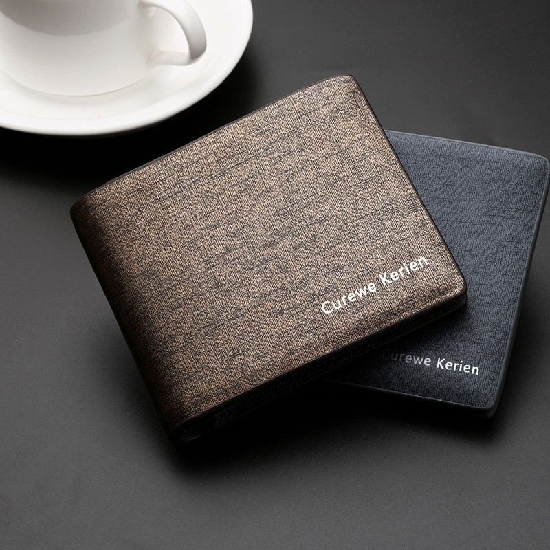 High Quality Brand Luxury Male Business Short Pocket Bags Money Clip Card Holder Classic Clutch Leather Purse Bag Men <strong>Wallet</strong> Hot