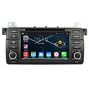 Quad Core 1024600 Android 5.1 Car DVD GPS Navigation Multimedia Player Car Stereo for BMW 3 Series:1998 to 2001-E46 (BMW Old 17-Pin connector) Radio 3G Wifi Bluetooth Steering Wheel Control