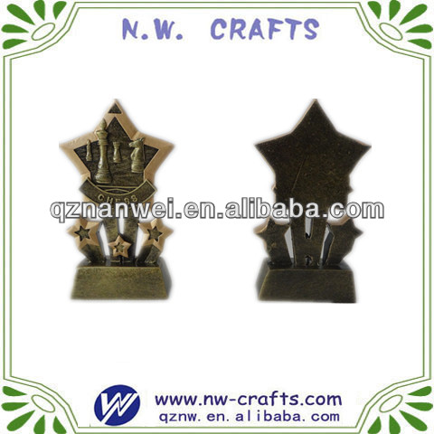 Chess star shooting resin trophy
