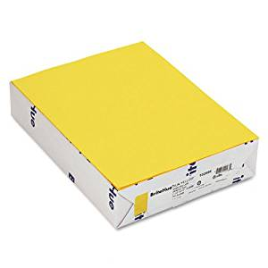Mohawk : Brite-Hue Color Copy/Laser/Inkjet Paper, Sun Yellow, 24lb, Letter, 500 Sheets -:- Sold as 2 Packs of - 500 - / - Total of 1000 Each