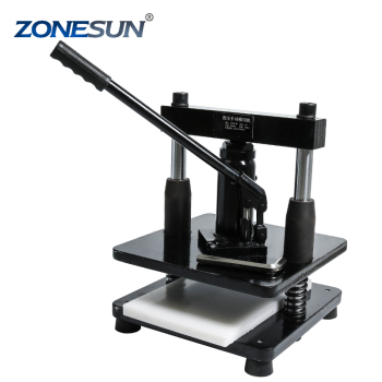 ZONESUN leather Hydraulic manual die cutting machine photo paper PVC/EVA sheet mold cutter cutting die for DIY papercraft