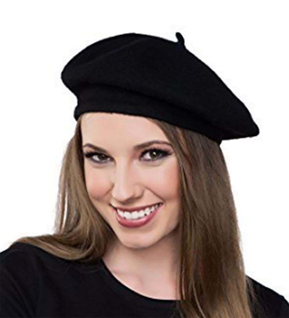 afc19a266d4 Get Quotations · 2 X Men s Black French Beret Hat Fancy Dress Accessory.  This Accessory is the Perfect