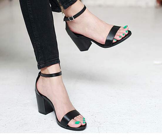 e17e5ea7ca512a Chunky Ankle Strap Heels - Qu Heel
