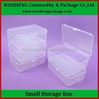 Useful Small Clear Square Plastic Storage Container With Hinged Lid