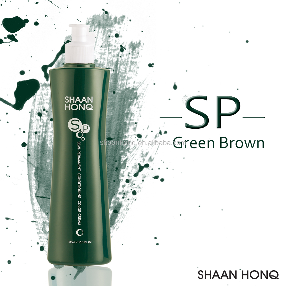 Green Brown Color SP Conditioning Color Cream To Darken Naturally Fading Hair