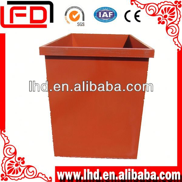new outdoor small Metal Waste Container With Spray Paint