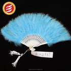 Party Wedding Dance Show Two Eyes Peacock Feather Fan For Sale