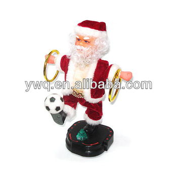 2014 World Cup Singing Plush santa popular talking electronic dancing santa toy