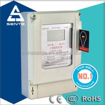 Dtsy7666 Type Three Phase Four Wire Ic Card Digital Prepaid ...
