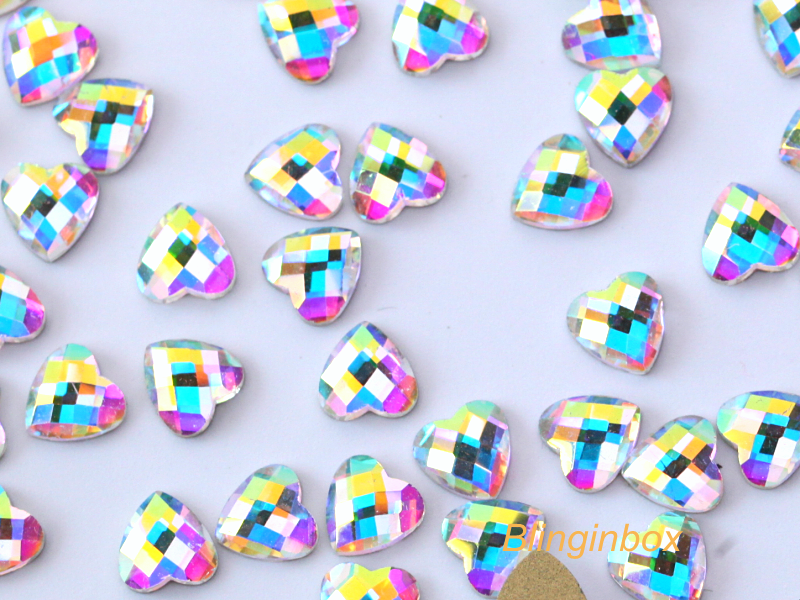 Wholesale crystal AB color 6*8mm nail art K9 rhinestone flat back fancy rhinestone