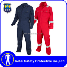 Factory Production Custom Logo overalls made with flame resistant fabric / workwear overalls china