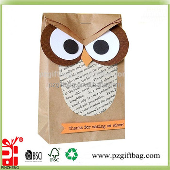 Búho Diseño Kraft Papel Decorar Bolsa De Papel Para Regalo Buy Decorar Bolsa De Papel De Regalobúho Diseño Decorar Bolsa De Papel De Regalopapel