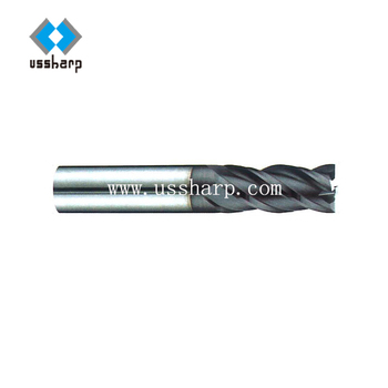HRC 60 Tungsten carbide square end mill with 4 flute