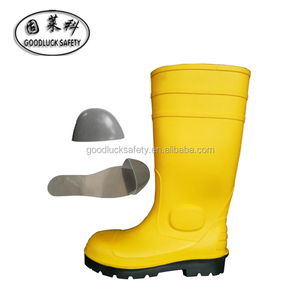 Industrial steel toe caped safety wellingtons for men
