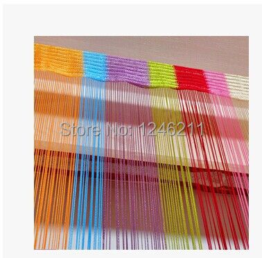 100*200cm Rainbow Colorful Line String Door Curtain / Room Divider / Decoration Curtains, Ready Made, Free shipping