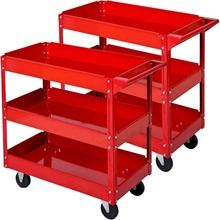 New Service Garage Utility Trolley cart 2 Tier Tool Caddy Tray Storage