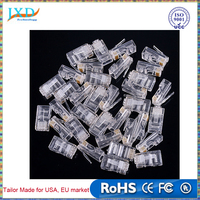 Network Cable Adapter RJ45 RJ-45 CAT5 Modular Plug Connector Network Connector Wholesale