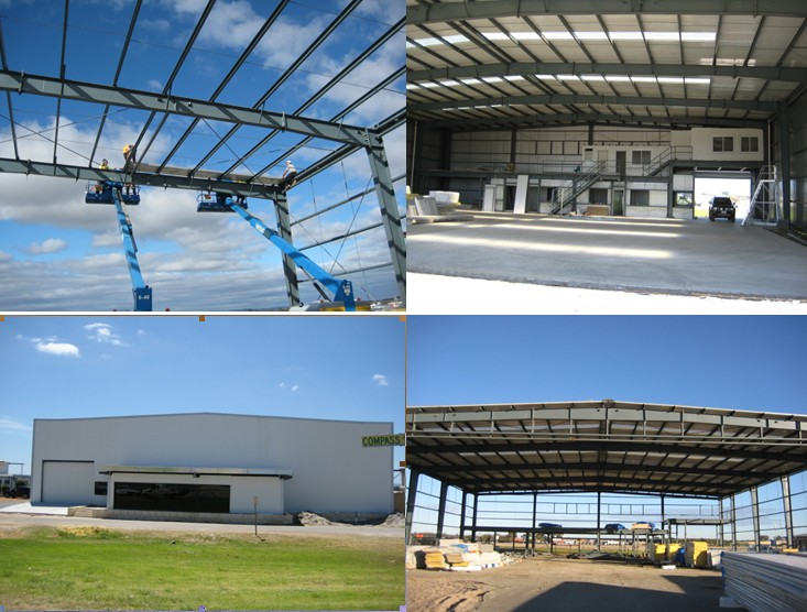 Industrial Insulated Prefabricated Corrugated Steel Structure Frame Aircraft Hangar Building