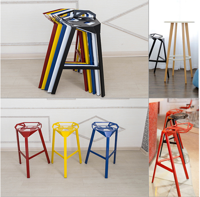 Famous Design Chair One Aluminum Alloy 3 Leg Bar Stool For Sale ...
