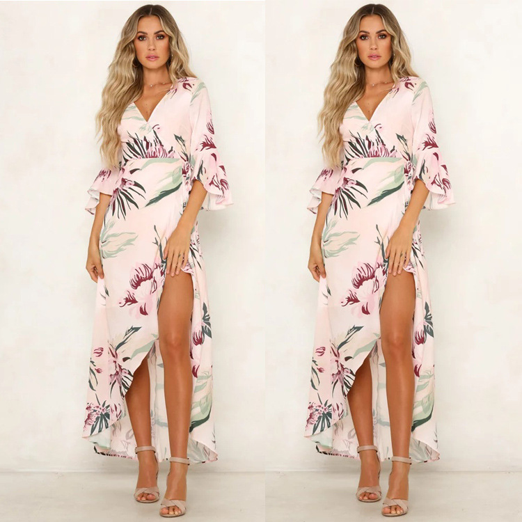 New Ladies <strong>Women</strong> <strong>Western</strong> Style <strong>Dress</strong> Floral Bohemian Clothing