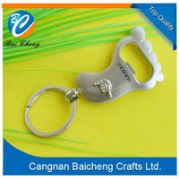 key chain bottle opener of foot shaped