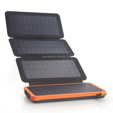 Hot Selling Foldable Sun Power Panel Solar Phone Charger Waterproof Solar Power Bank with Attached Solar Panel