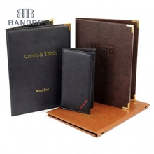 Klassieke restaurant Soft Feel Leather Custom Menu covers Pak Uw Venue