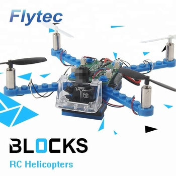 Flytec Building Block Drone Quadcopter 3D DIY Bricks Mini Drones Toys RC Assembled Model DIY Drone Building Kits Educational Toy