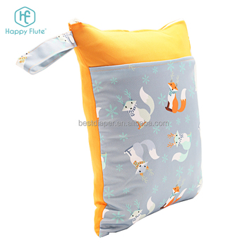 Happy flute baby cloth diaper bag travel washable wet bag