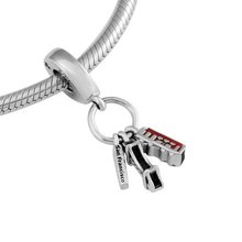 Benutzerdefinierte Sterling <span class=keywords><strong>Silber</strong></span> Schwarz und Rot Emaille San Francisco Highlights Baumeln graduation charms