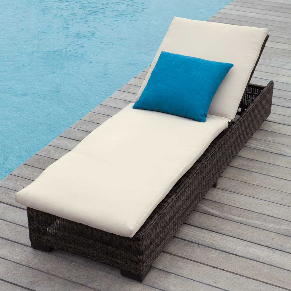 Swimming Pool Hotel Beach Rattan Chaise Lounge With