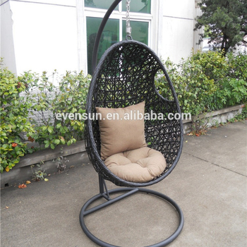 Wicker Outdoor Hanging Egg Pod Chair
