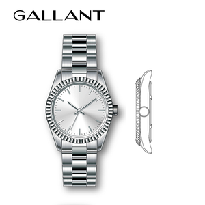 classic brand all stainless steel watch logo