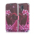 Girl Fancy Design Printed Red Rose Flower Heart Shaped Flip Foldable PU Leather Cell Phone Cover Case for Samsung Galaxy S5