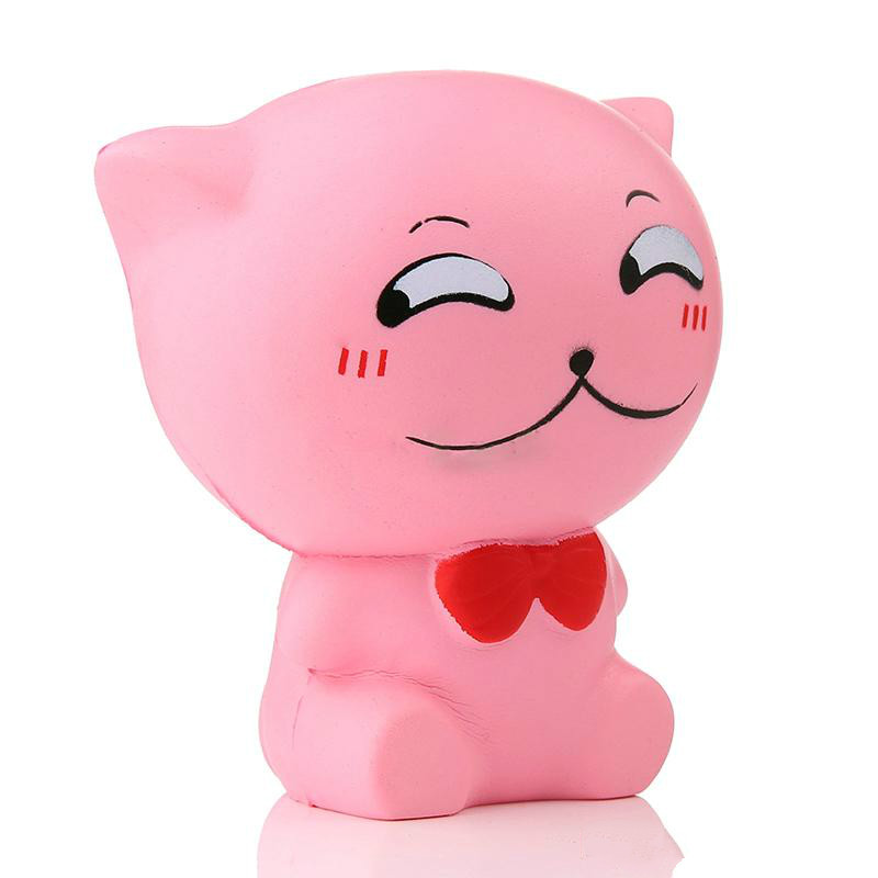 Mskwee Kawaii Squishy Jumbo Cute Slow Rising Anti Stress Emotion Cat Squeeze Toys Soft Scented Kids Toy Gift Squishies Buy Squishy Toypink Cat