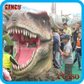 Amusement Park Atrractive Realistic Animatronic Dinosaur Head