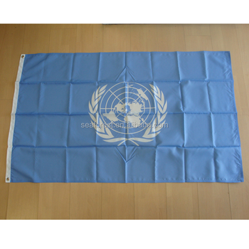 wholesale high quality 3x5ft printing United Nations flag,custom polyester outdoor flying UN flag